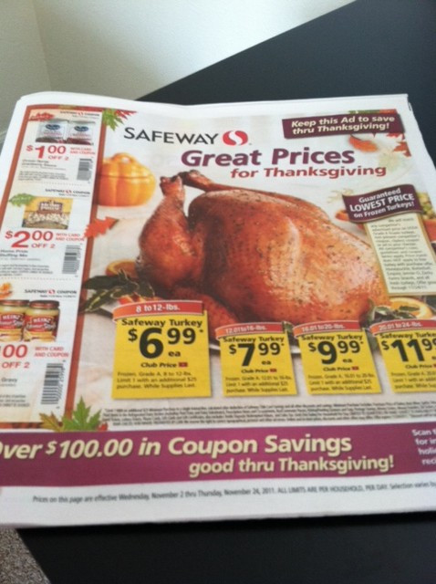 King Soopers Thanksgiving Dinners  Thanksgiving Coupons and Deals at Safeway 2011