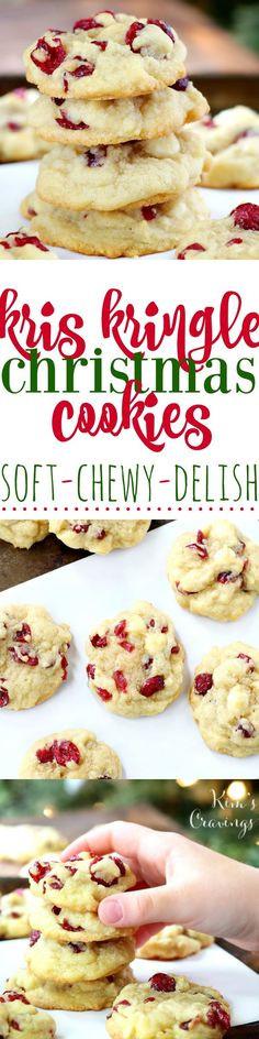 Kris Kringle Christmas Cookies  Best No Sugar Added Dried Cranberries Recipe on Pinterest