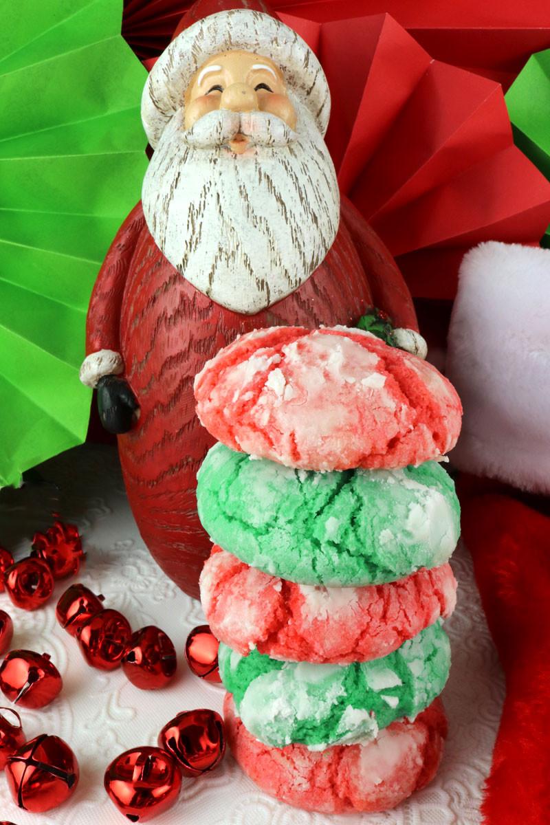 Kris Kringle Christmas Cookies  Kris Kringle Crinkles Two Sisters