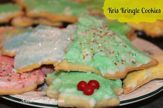 Kris Kringle Christmas Cookies  Kris Kringle Cookie and Frosting Recipe
