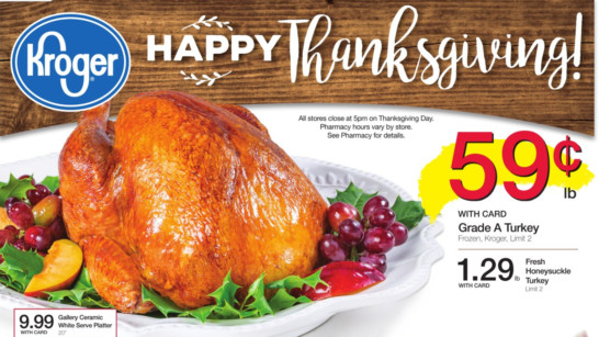 Kroger Thanksgiving Dinners 2019  Couponing at Kroger Thanksgiving Day Meal Deals Match Ups