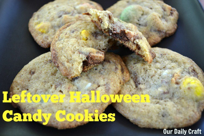 Leftover Halloween Candy Cookies  Leftover Halloween Candy Cookies Our Daily Craft