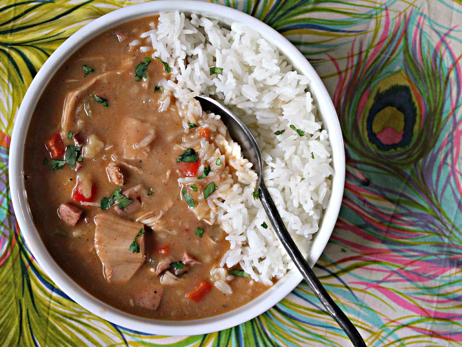 Leftover Thanksgiving Turkey Recipes  Slow Cooker Leftover Turkey and Andouille Gumbo Recipe