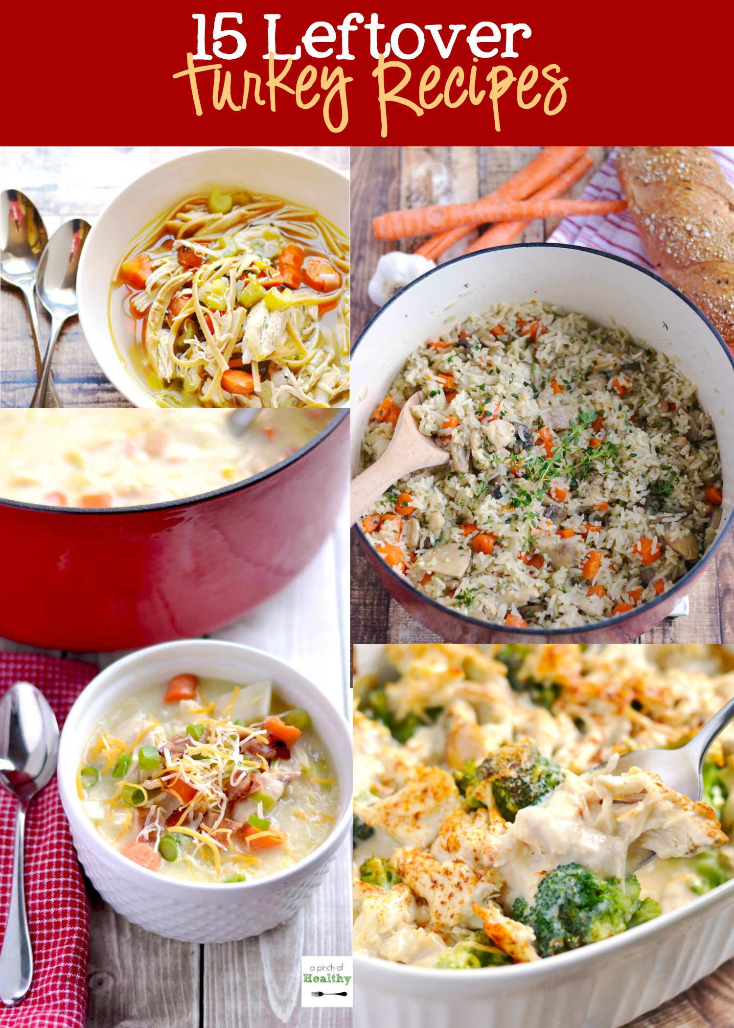 Leftover Thanksgiving Turkey Recipes  Leftover Turkey Recipes Roundup A Pinch of Healthy