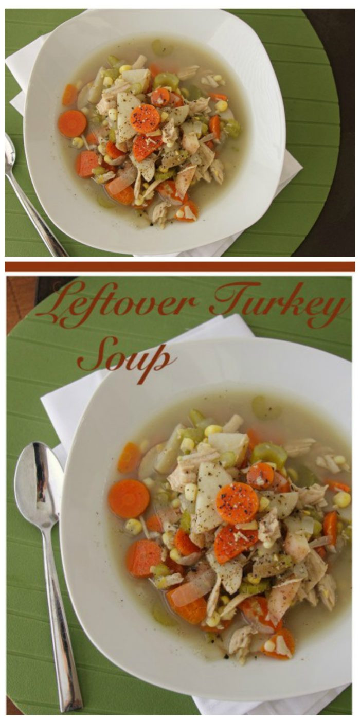 Leftover Thanksgiving Turkey Soup  Leftover Turkey Soup Cooking With Ruthie