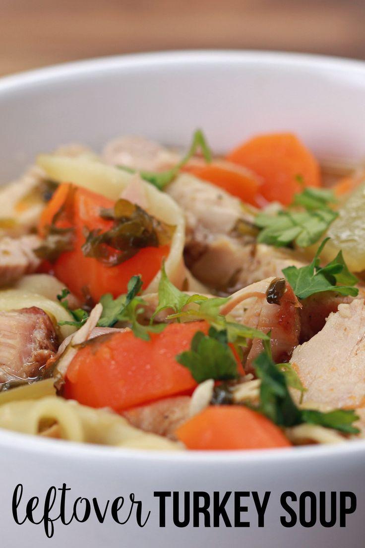 Leftover Thanksgiving Turkey Soup  Leftover Turkey Soup
