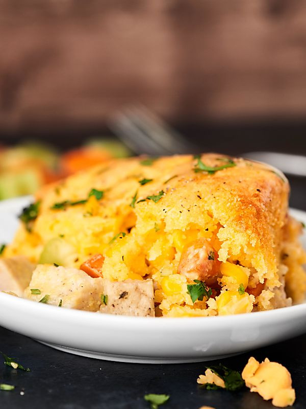 Leftovers Thanksgiving Casserole  Leftover Turkey Cornbread Casserole Recipe Thanksgiving