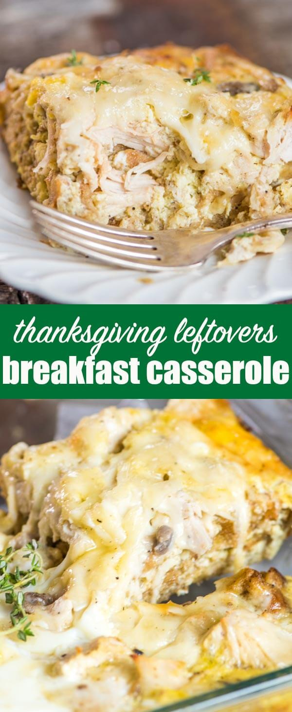 Leftovers Thanksgiving Casserole  Thanksgiving Leftovers Breakfast Casserole Make Ahead or
