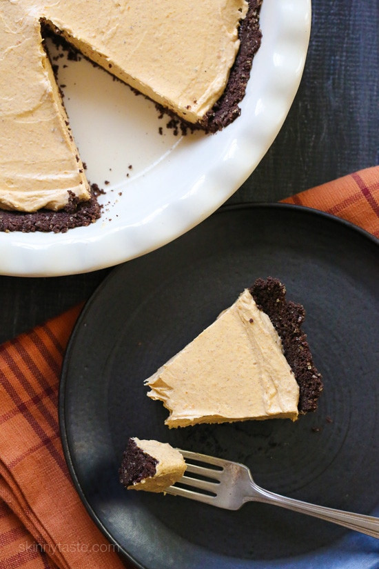 Light Fall Desserts  Pumpkin Spice No Bake Cheesecake