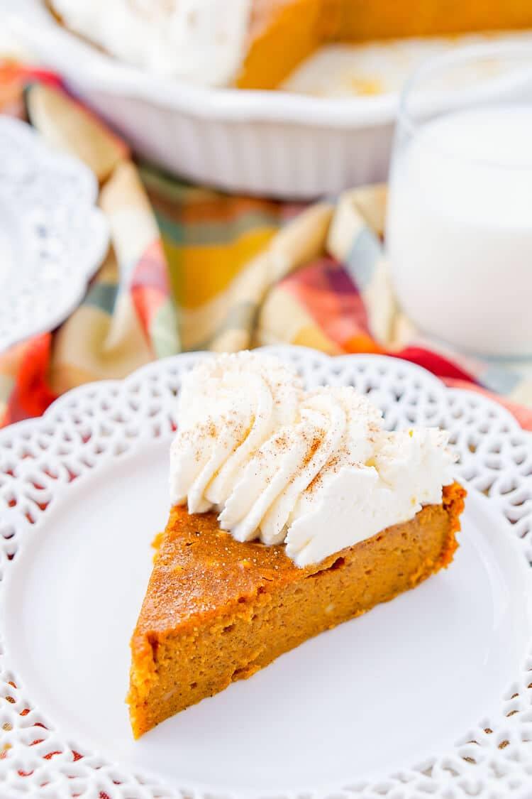 Light Fall Desserts  Impossible Pumpkin Pie Sugar & Soul