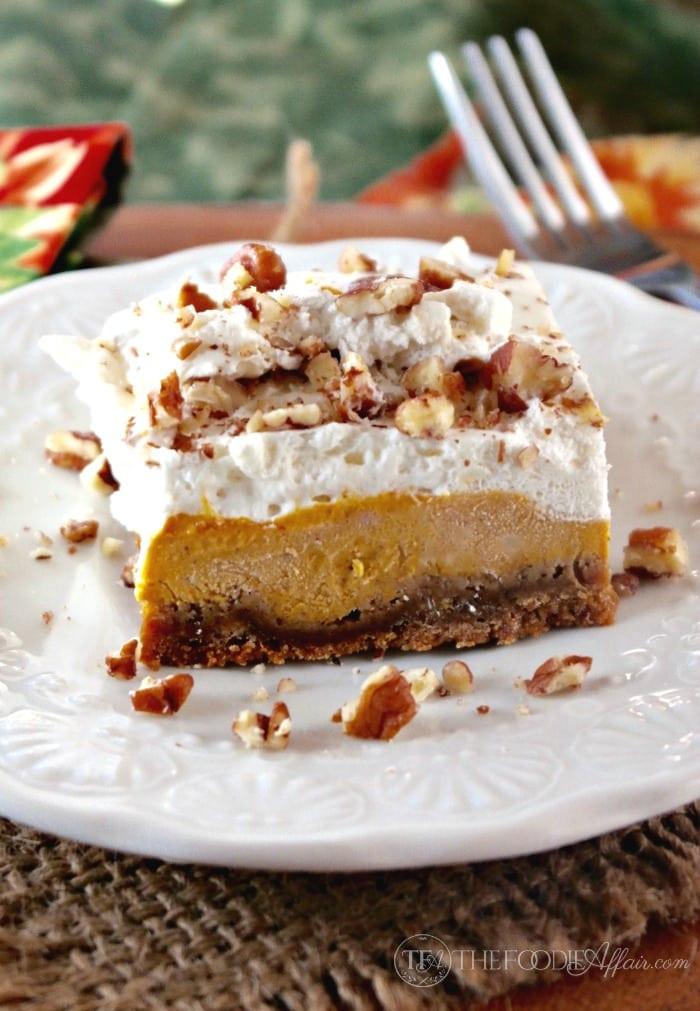 Light Fall Desserts  Pumpkin Delight Dessert