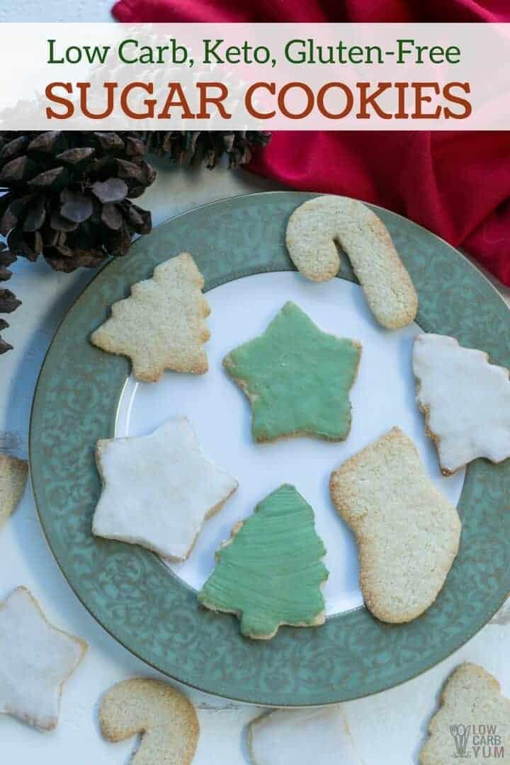 Low Sugar Christmas Cookies  Low Carb Keto Sugar Cookies Gluten Free