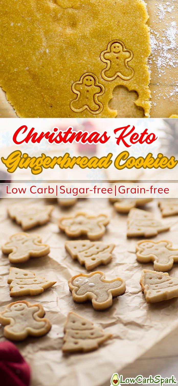 Low Sugar Christmas Cookies  Christmas Keto Gingerbread Cookies Low Carb Sugar free