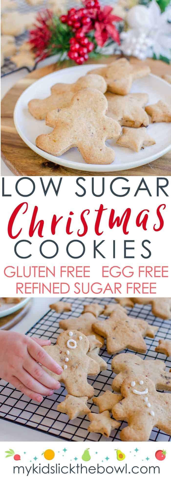 Low Sugar Christmas Cookies  Low Sugar Christmas Cookie Recipe Allergy Friendly
