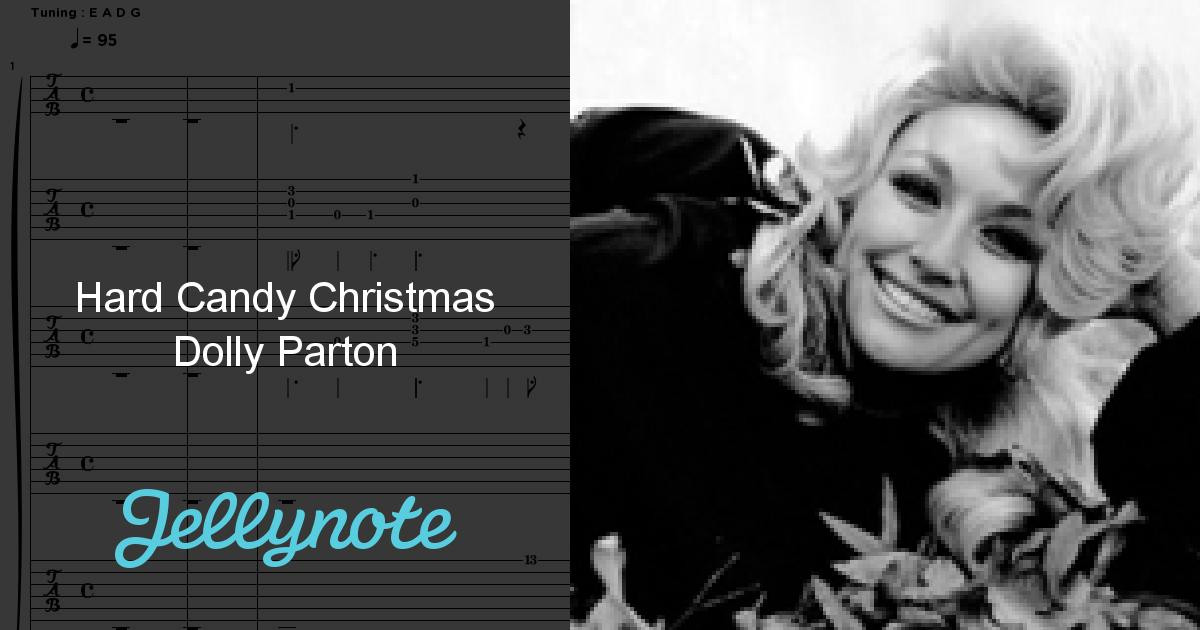 Lyrics Hard Candy Christmas  Hard Candy Christmas Dolly Parton Free Sheet Music & Tabs