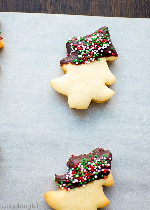 Mail Order Christmas Cookies  Christmas Tree Chocolate Dipped Cookies