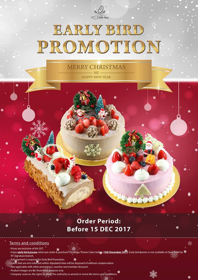 Mail Order Christmas Cookies  RT Pastry Christmas Early Bird Promotion Food