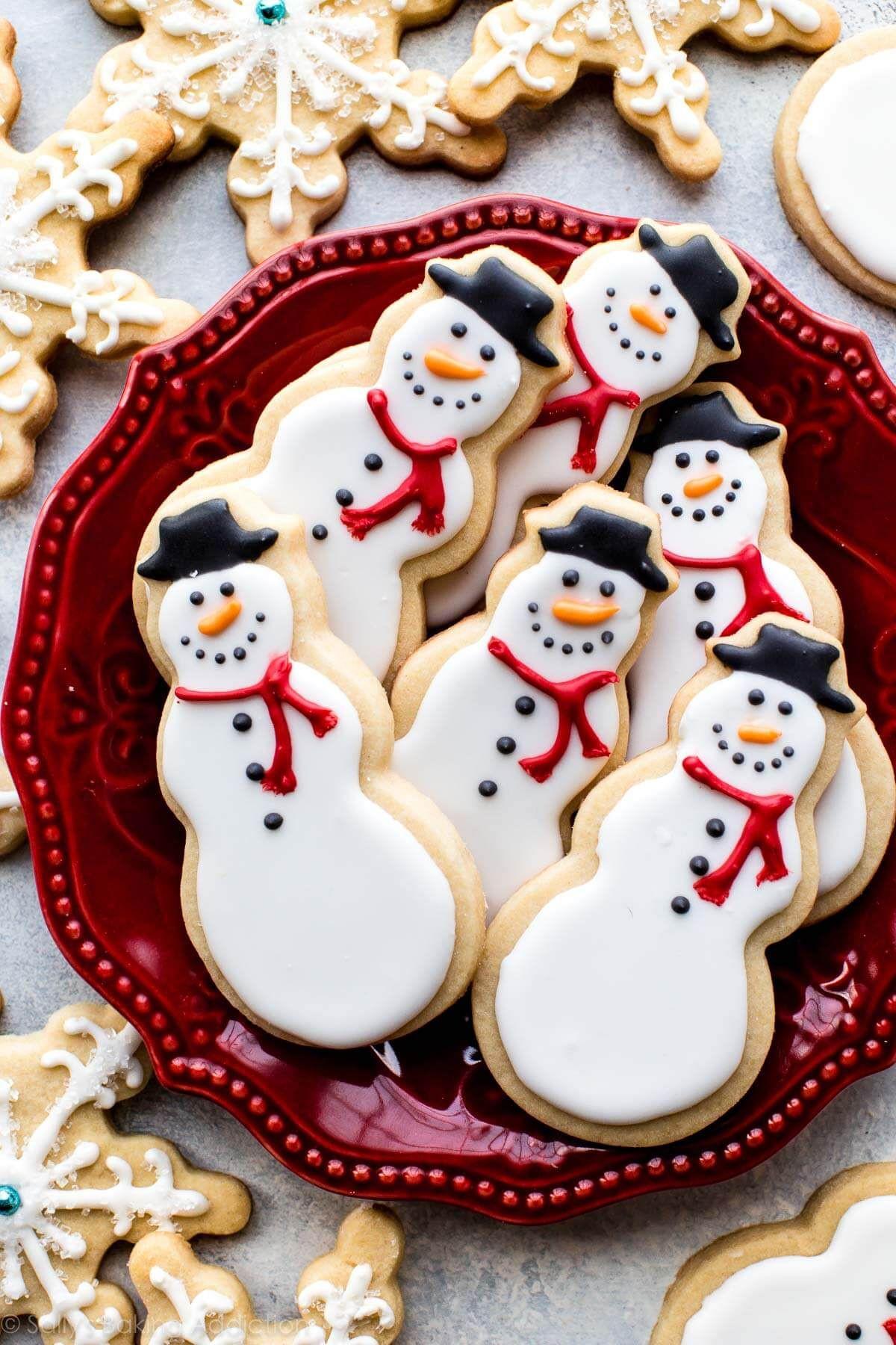 Making Christmas Cookies  Snowman Sugar Cookies cookies