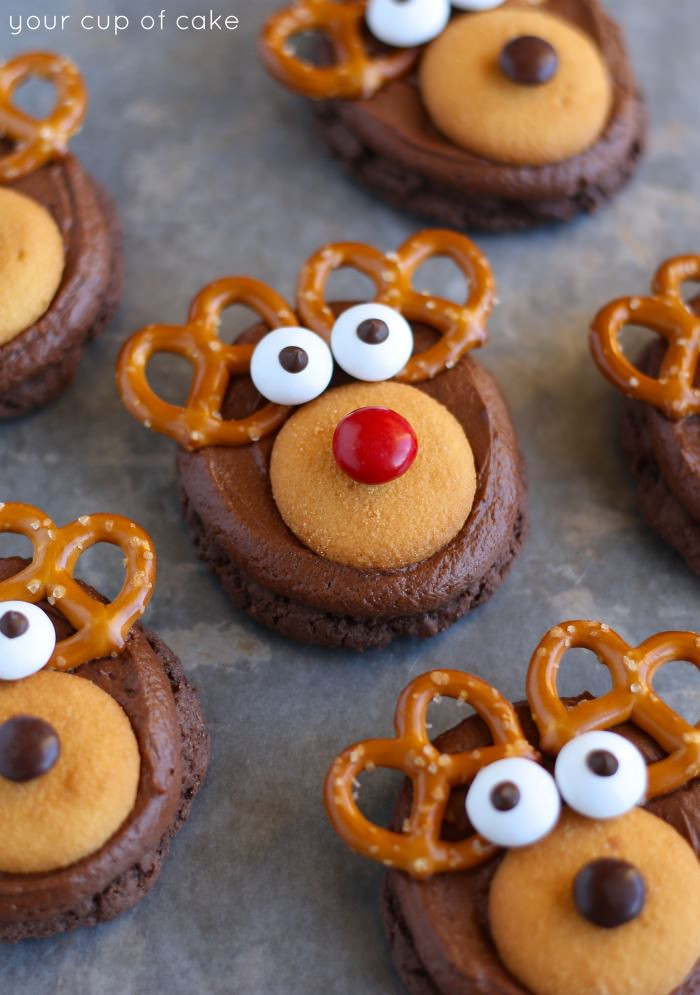 Making Christmas Cookies  How to Make Rudolph Cookies