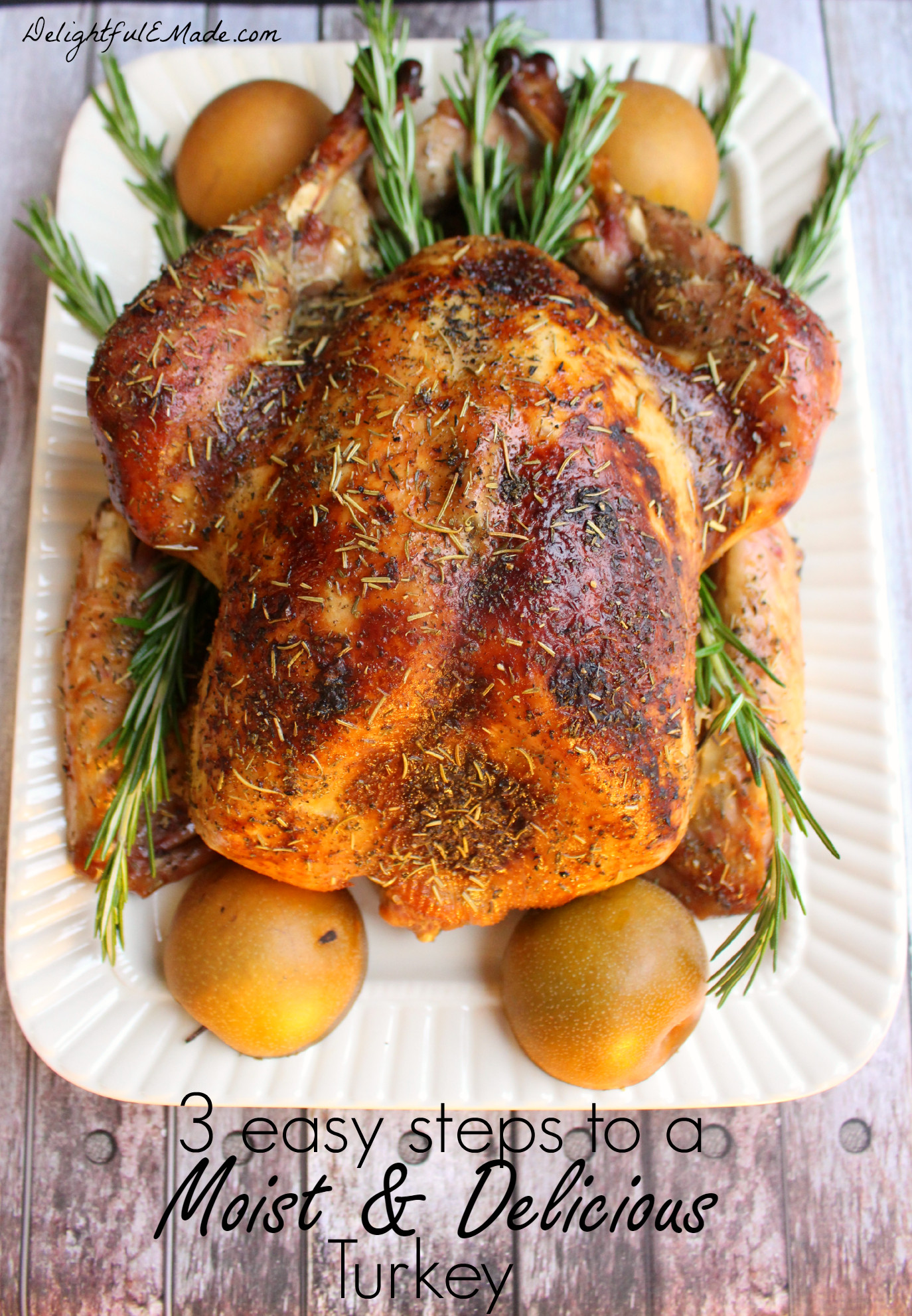 Making Thanksgiving Turkey  3 Easy Steps to a Moist and Delicious Turkey Delightful