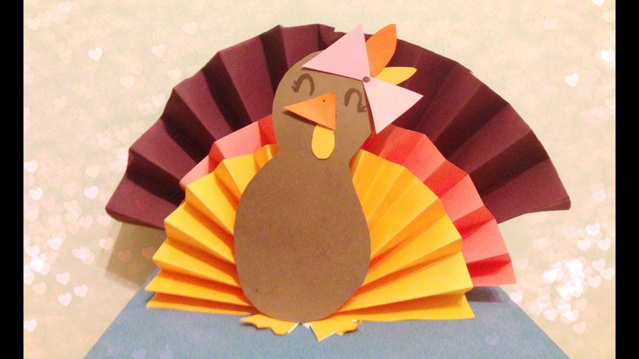 Making Thanksgiving Turkey  DIY 3D Paper Turkey