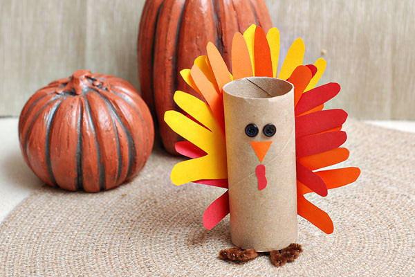 Making Thanksgiving Turkey  Gobble gobble Make a paper tube turkey craft