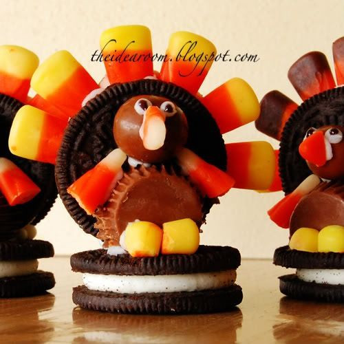 Making Thanksgiving Turkey  Thanksgiving Candy corn and Oreo on Pinterest