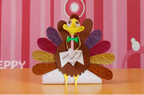 Making Thanksgiving Turkey  How to make a Turkey with Color Papers line 123Peppy