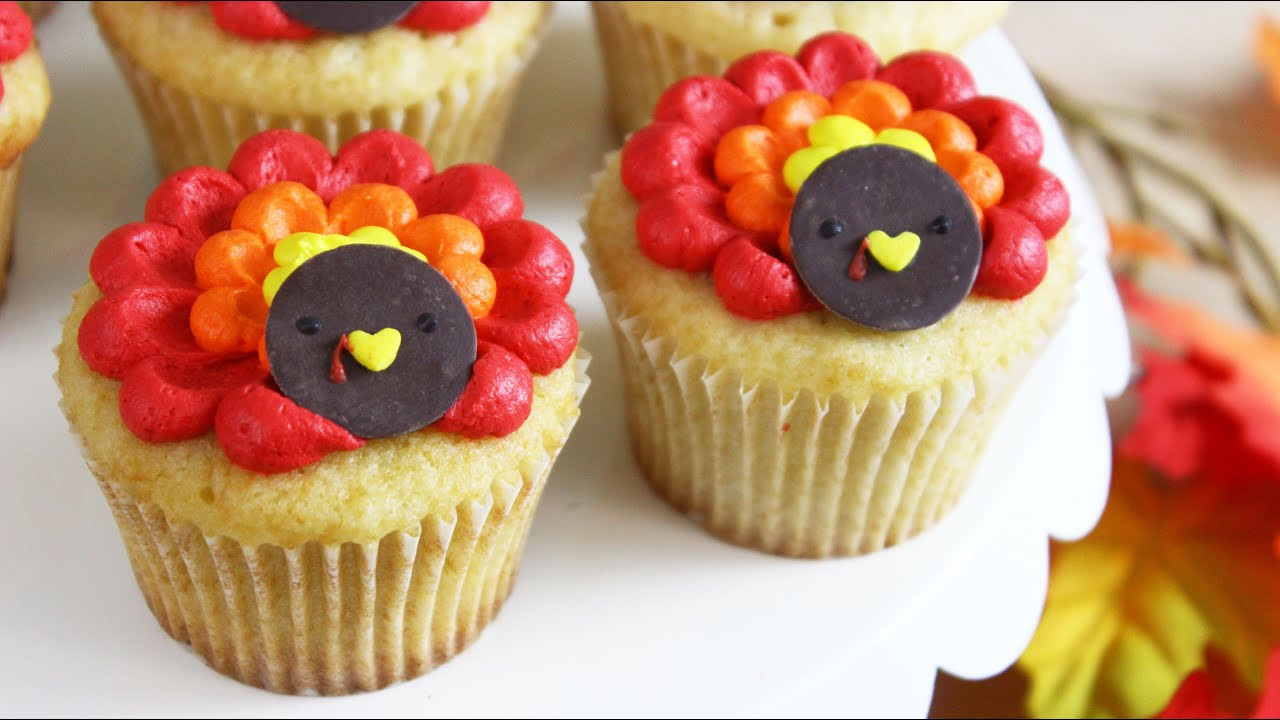 Making Thanksgiving Turkey  How to Make Thanksgiving Turkey Cupcakes