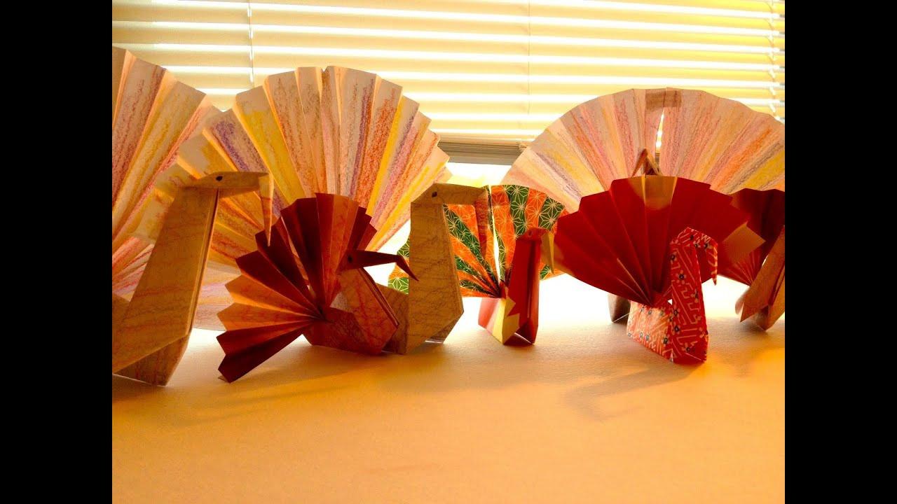 Making Thanksgiving Turkey  Simple Origami Turkey for Children