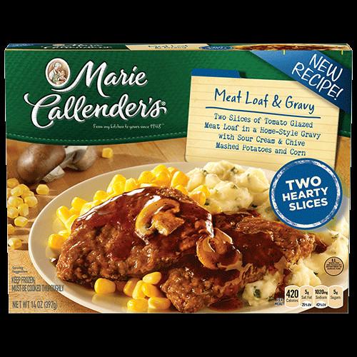 Marie Calendars Thanksgiving Dinner  Meat Loaf & Gravy