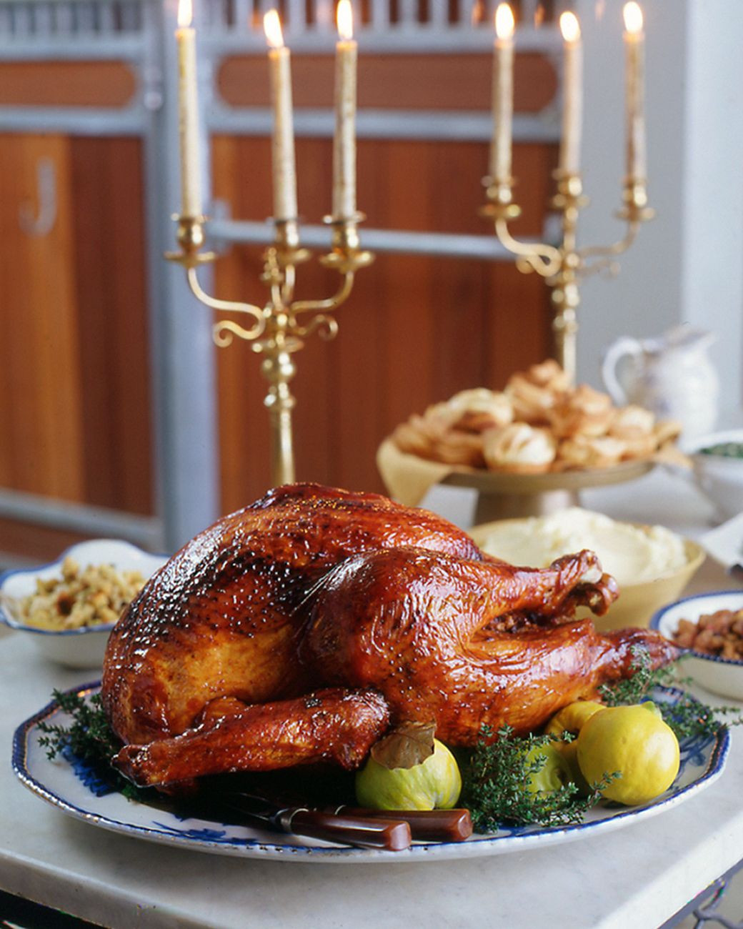 Martha Stewart Thanksgiving Turkey  Roast Turkey with Quince Glaze