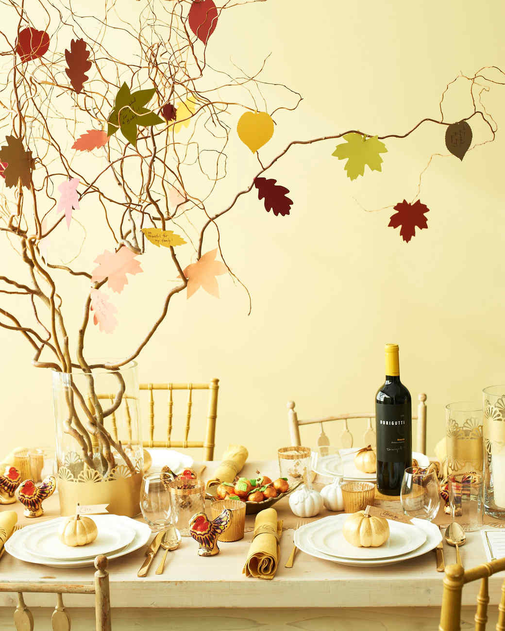 Martha Stewart Thanksgiving Turkey  Tree Centerpieces Time to Branch Out with Your Table
