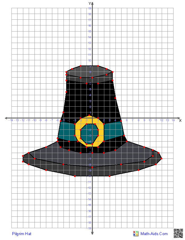 Math Aids Com Thanksgiving Turkey  Pilgrim Hat