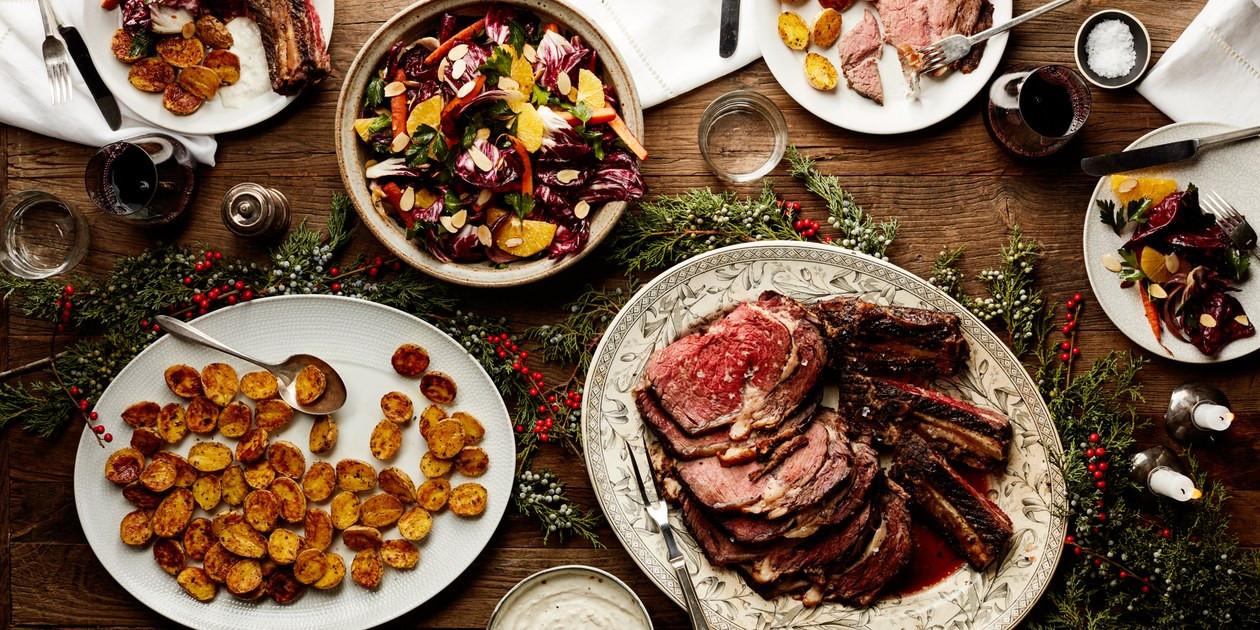 Menus For Christmas Dinners  Easy Christmas Dinner Menu With Beef Rib Roast