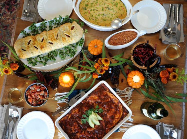 Mexican Thanksgiving Dinners  Thug Kitchen authors offer vegan Thanksgiving