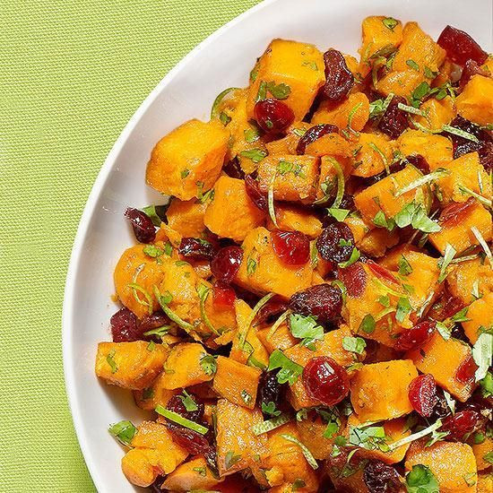 Mexican Thanksgiving Side Dishes  Sweet Potatoes with Cilantro