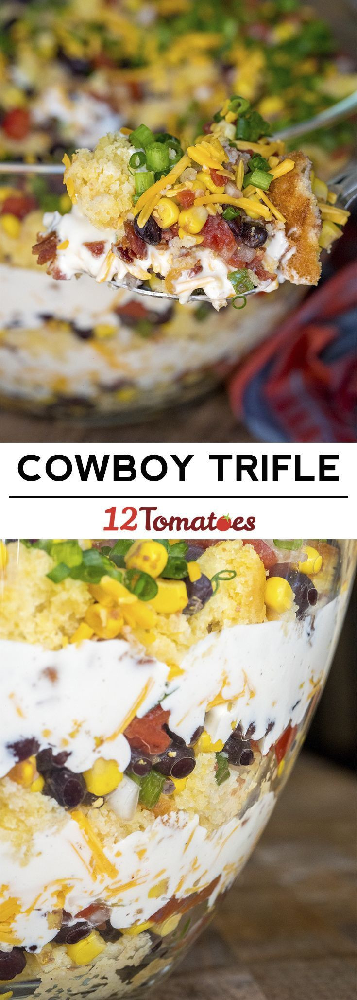 Mexican Thanksgiving Side Dishes  Cowboy Trifle the perfect party side dish