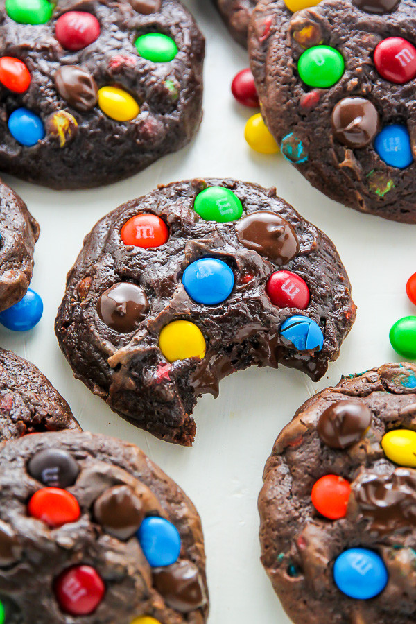 Mm Christmas Cookies  Soft Batch Chocolate M&M Cookies Baker by Nature