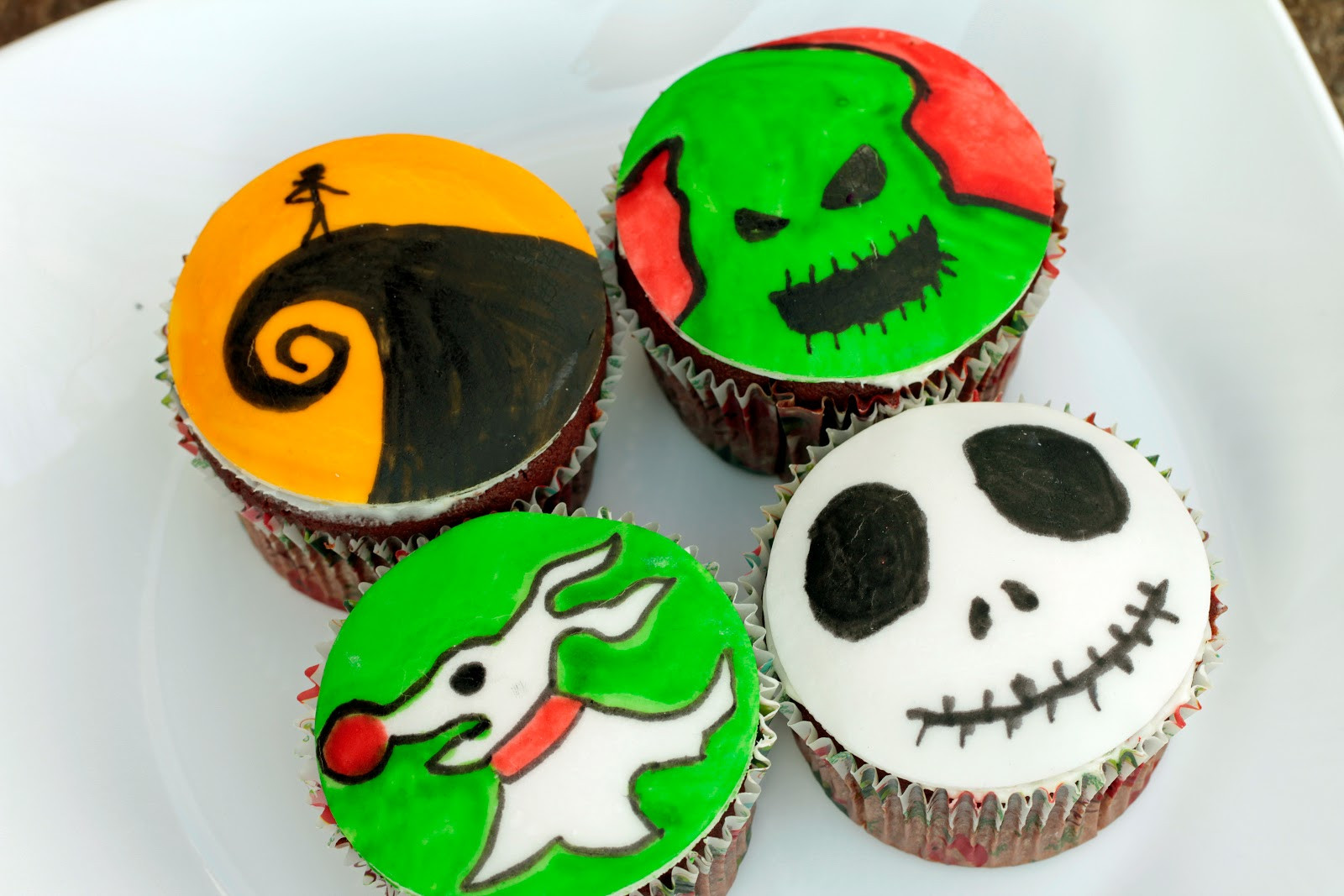 Nightmare Before Christmas Cupcakes  Terrifying Treats Nightmare Before Christmas Cupcakes