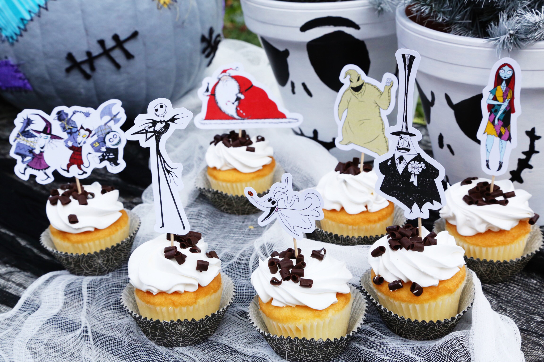 Nightmare Before Christmas Cupcakes  The Nightmare Before Christmas Cupcake Toppers
