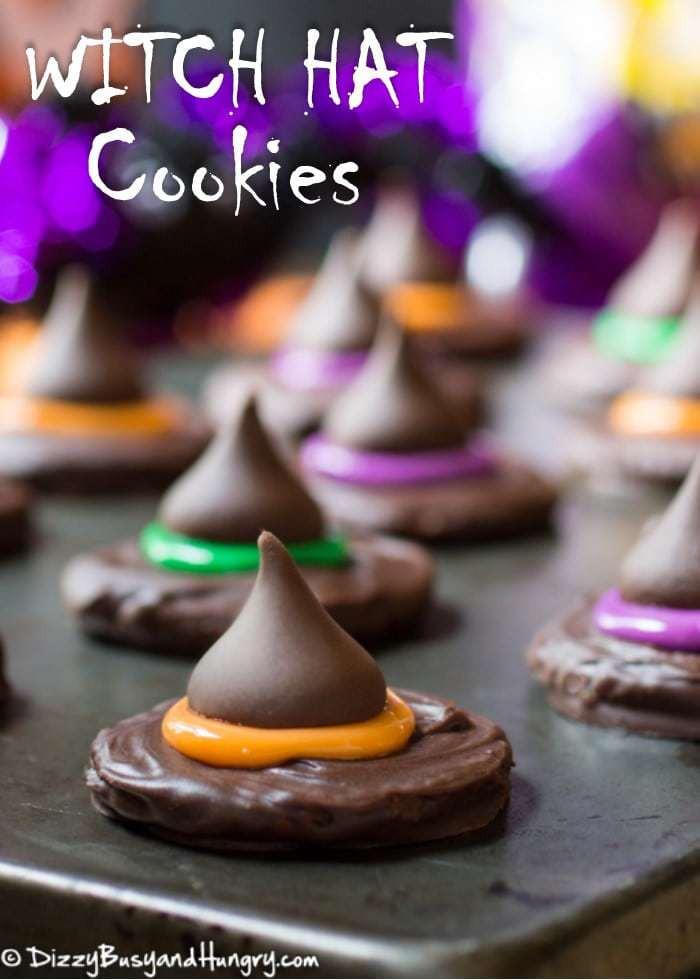 No Bake Halloween Cookies  Witch Hat Cookies SundaySupper