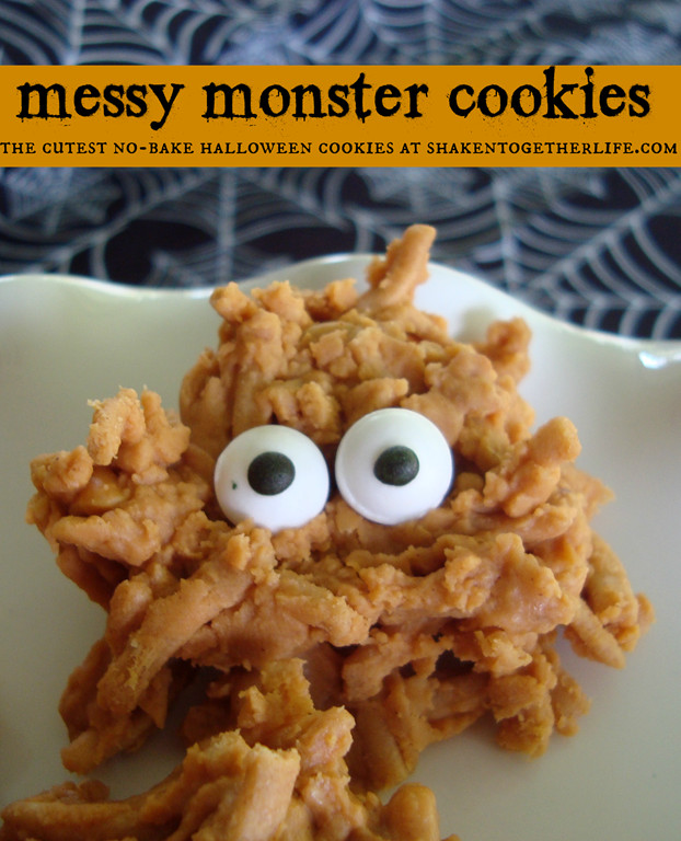 No Bake Halloween Cookies  The Scoop Link Party It All Started With Paint