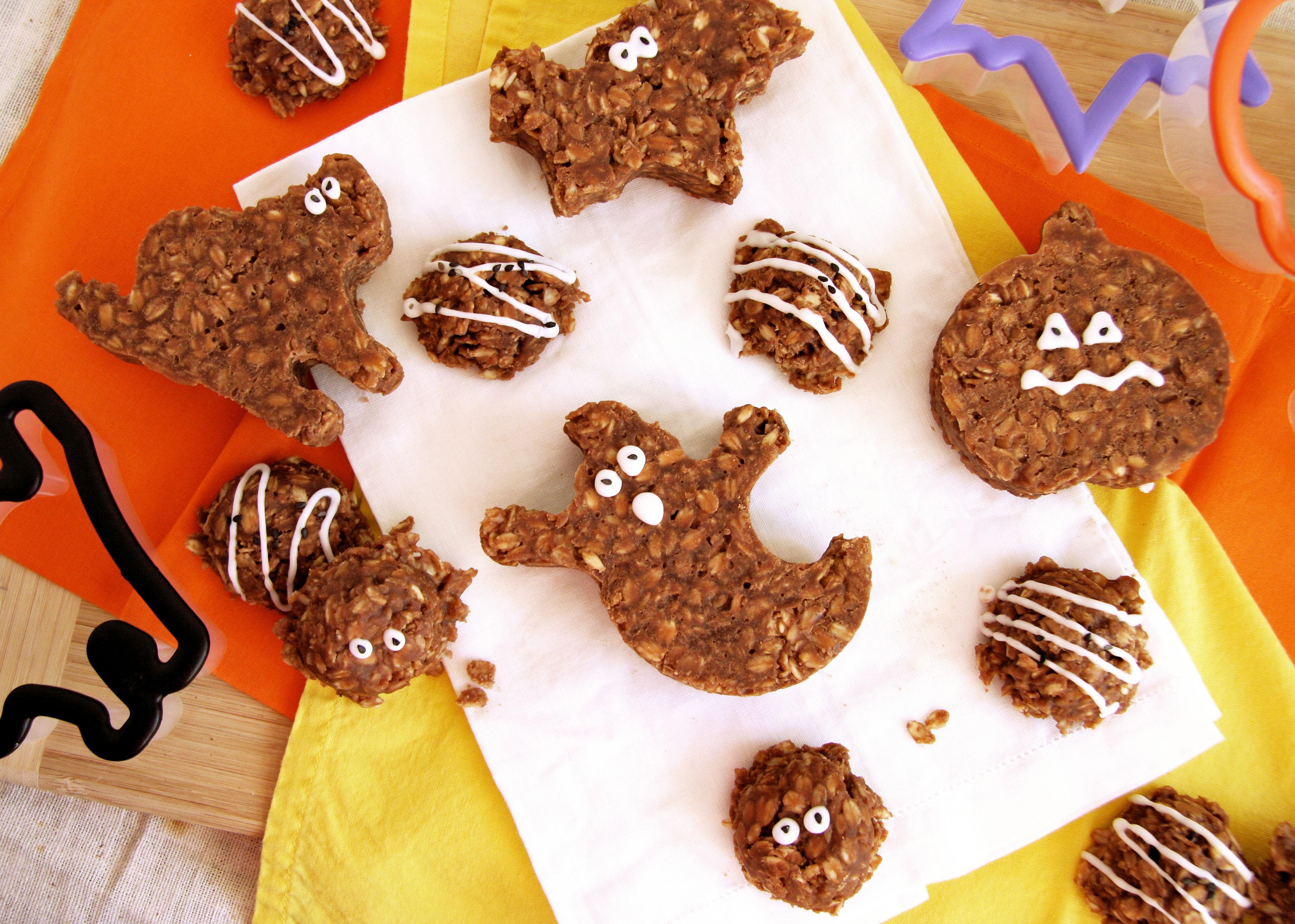 No Bake Halloween Cookies  Spooky No Bake Chocolate Oatmeal Cookies SRC