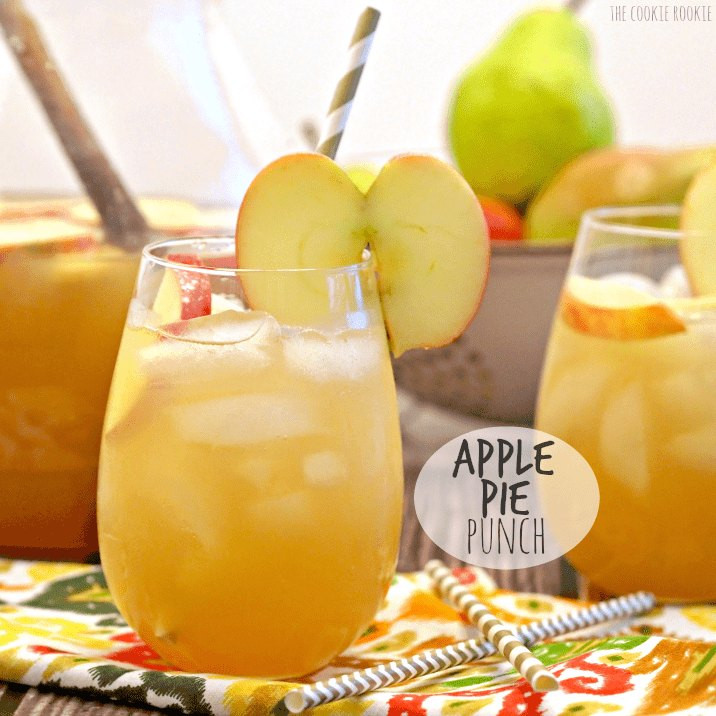 Non Alcoholic Thanksgiving Drinks  Apple Pie Punch The Cookie Rookie