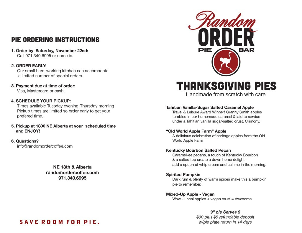 Order Pies For Thanksgiving  Special Order Thanksgiving Pie