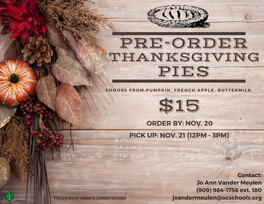 Order Pies For Thanksgiving  Pre Order Thanksgiving Pies