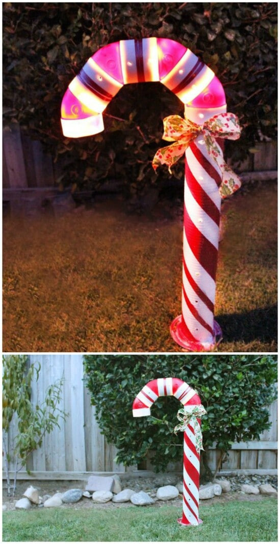 Outdoor Christmas Candy Canes  20 Impossibly Creative DIY Outdoor Christmas Decorations