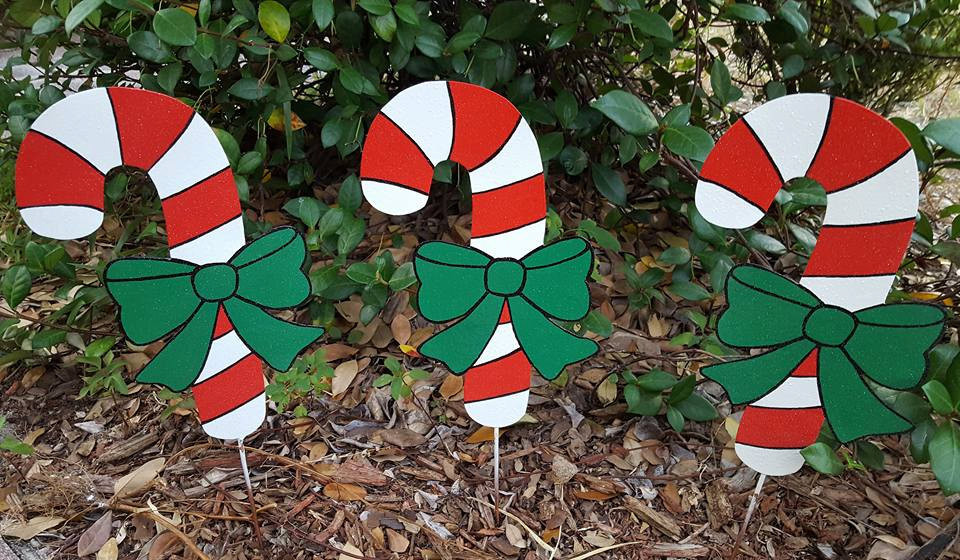 Outdoor Christmas Candy Canes  Holiday Candy Cane Yard Decoration Christmas Decoration