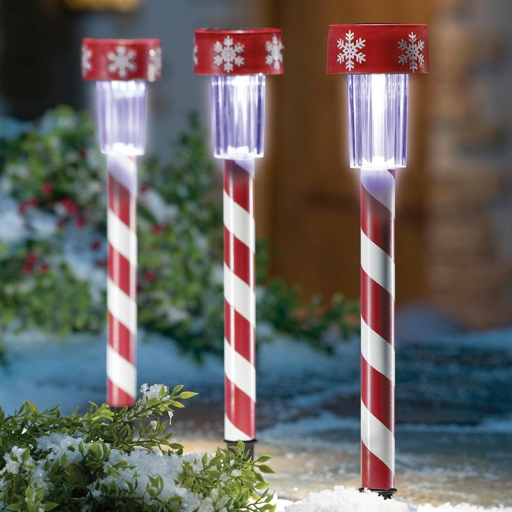 Outdoor Christmas Candy Canes  Candy cane outdoor lights 15 Trendy Outdoor Lights to